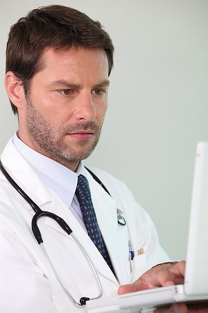 Image of a confused doctor