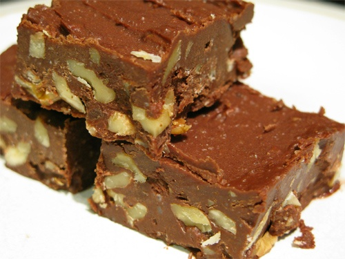 Coconut Oil Chocolate-Walnut Freezer Fudge recipe photo