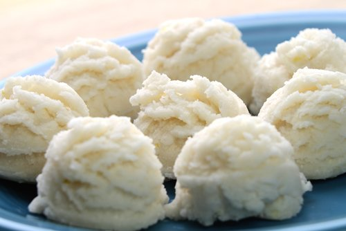 Quick Lemon Coconut Candy with coconut and coconut cream concentrate Recipe Photo