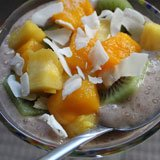 Banana Coconut Chia Seed Pudding Recipe Photo
