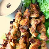 Chicken Satay with Coconut Peanut Sauce Recipe Photo