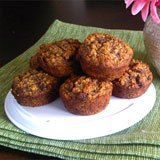 Coconut Flour Oatmeal Raisin & Flax Muffins Recipe Photo