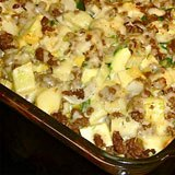 Mexican Beef & Summer Squash Casserole Recipe Photo
