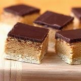 Peanut Butter & Dark Chocolate Shortbread Protein Bars Recipe Photo