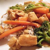 Thai Pra Ram Chicken with Peanut Sauce Recipe Photo