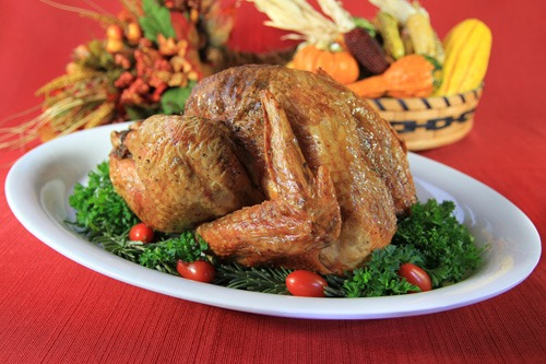 Organic Pastured Free-Range Herb Roasted Thanksgiving Turkey | Prepared by Marianita Shilhavy, Photo by Jeremiah Shilhavy