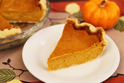 Creamy Pumpkin Pie Recipe Photo