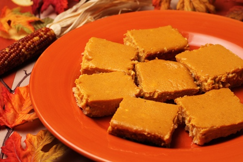 Gluten Free Pumpkin Cheesecake Bars Photo