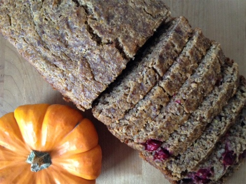 Pumpkin Cranberry Pecan Cider Bread Recipe Photo