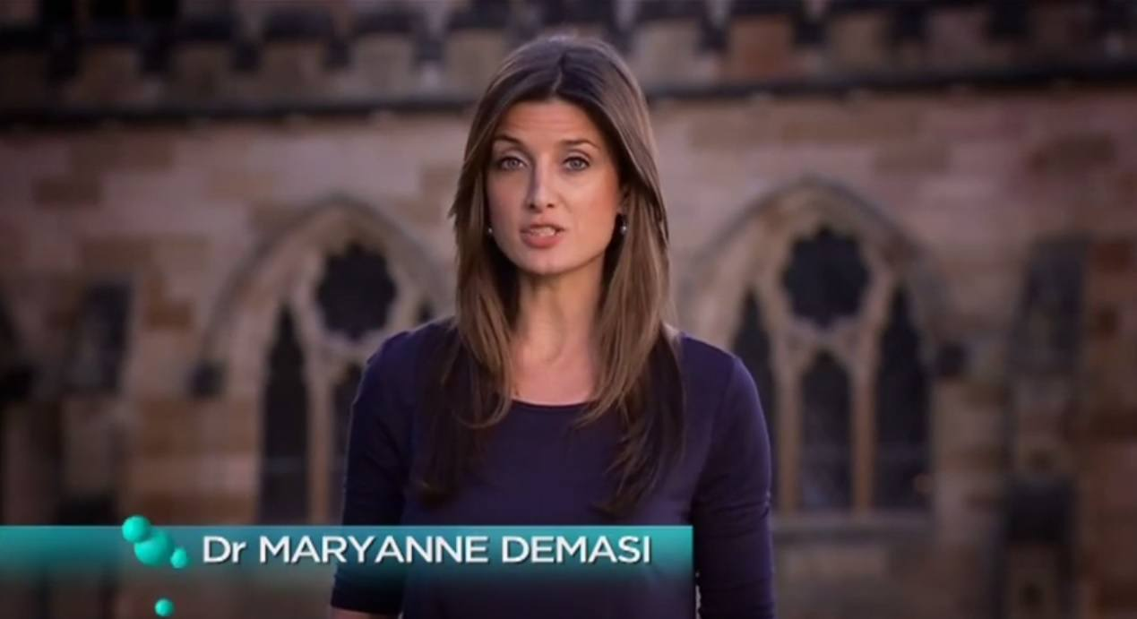 Dr MaryAnne Demasi from the Catalyst. Her investigative reporting on the dangers of statin drugs has now been banned.